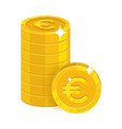 piles gold euro isolated cartoon icon vector image vector image