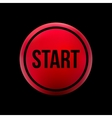 red button start vector image vector image