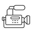reportage camera thin line icon camcorder vector image vector image