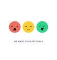 satisfaction customer concept vector image vector image