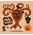 Scary Halloween Tree Cartoon vector image