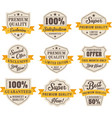 set retro vintage sales labels badge vector image