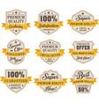 set retro vintage sales labels badge vector image