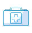 shadow medical bag cartoon vector image