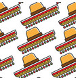 sombrero mexican hat seamless pattern national vector image vector image