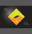 Square infographic template consists two
