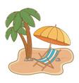 tourist trip summer travel vector image