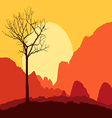 tree dry landscape scene background vector image