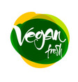 vegan lettering template vector image vector image