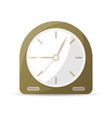 vintage analog clock icon vector image