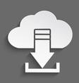 White cloud download 3d vector image