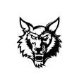 wolf head logo mascot design for esports team vector image vector image