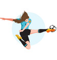 woman playing soccer vector image vector image