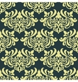 Yellow floral damask seamless pattern vector image vector image