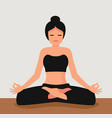 young attractive woman practicing yoga vector image