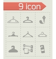 Hanger icon set vector image