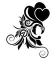 Black floral design element vector image