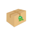 organic icon on box vector image