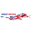 3d map great britain on a white background vector image