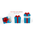 3d render and draw by mesh realistic gift box vector image