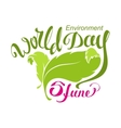 5 June World Environment Day Abstract leaf and vector image vector image