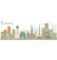 Abstract Caracas Skyline with Color Buildings vector image