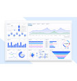 admin dashboard ui ux gui great design for any vector image vector image