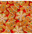 background with gingerbread vector image vector image