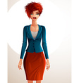 Beautiful coquette business lady full body vector image vector image