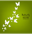 beautiful summer background with white paper vector image