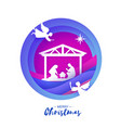 birth of christ baby jesus in the manger holy vector image vector image