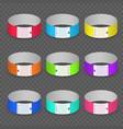 blank paper event bracelet set vector image vector image