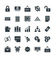 Business Cool Icons 5 vector image vector image