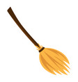 cartoon witch broom isolated on white background vector image vector image