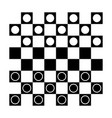 checkers draughts or checker board with pieces vector image vector image