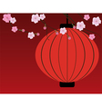 cherry blossom red vector image vector image