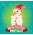 christmas background and greeting card vector image