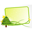 Christmas tree with text space vector image