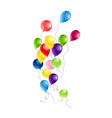 color balloons objects vector image
