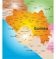 color map of Guinea vector image