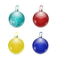 colored christmas balls toy vector image