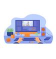 computer and monitor graphic animator