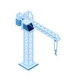 construction crane isometric icon lifting loads vector image