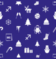 december month theme set of simple icons eps10 vector image vector image