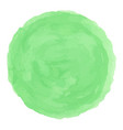 delicate green watercolor painted stain vector image vector image