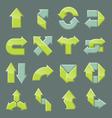 design set modern arrow vector image vector image