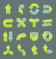 Design set of modern arrow vector image