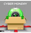 Digital cyber monday sale banner design vector image vector image