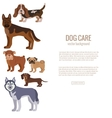 Dog breed silhouette colorful set vector image vector image