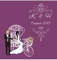 elegance vintage bride and groom vector image